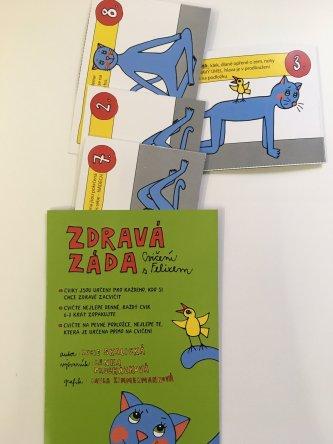 Brožura Zdravá záda – cvičení  s Felixem pro děti  i dospělé
