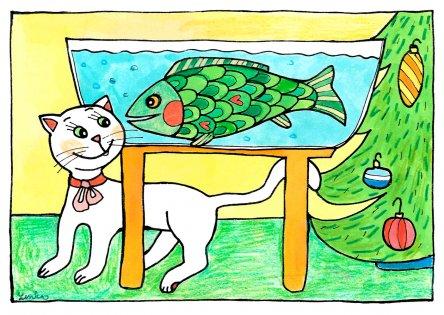 Kočka a kapr